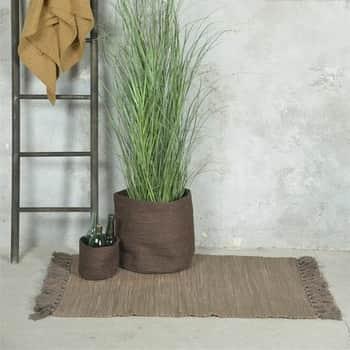 Bavlěný koberec Patchwork Dark Brown 60x90cm