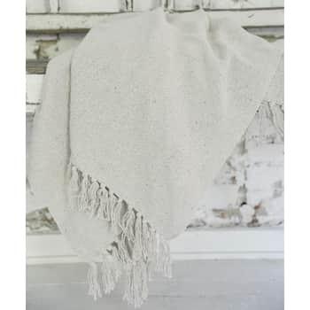 Bavlnený pléd Cream 125x150cm