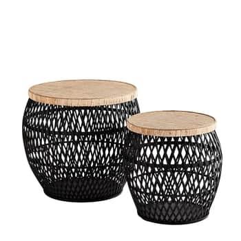 Ratanový stolek Black/Natural