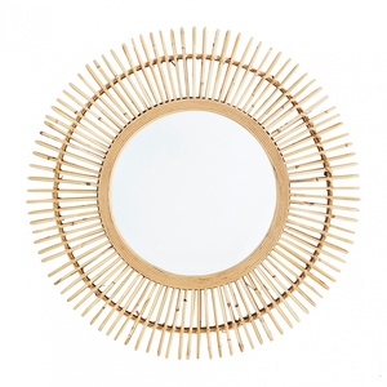 Zrkadlo vbambusovom ráme Bamboo Round