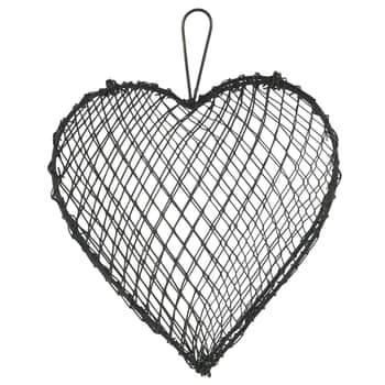 Závesné kovové srdce Grey Wire