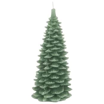 Vianočná sviečka Christmas Tree Green 20 cm