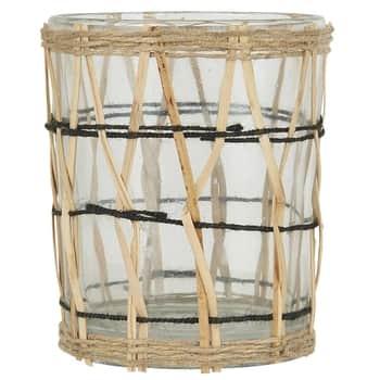 Skleněný svícínek Bamboo Braid 9,7 cm
