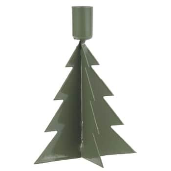 Kovový vánoční svícen Christmas Tree Green