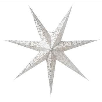 Závěsná svítící hvězda Ludwig White/Silver 80cm