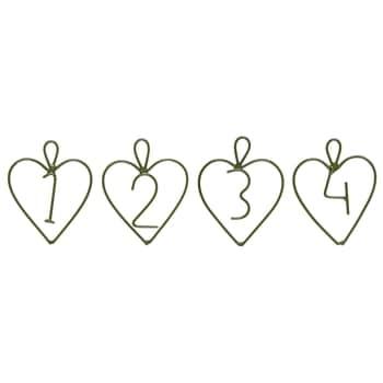 Kovové štítky na adventný veniec Green 1-4