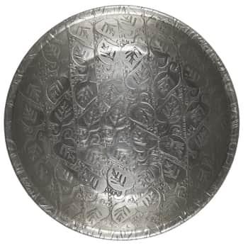 Kovový tácek Leaf Pattern Silver