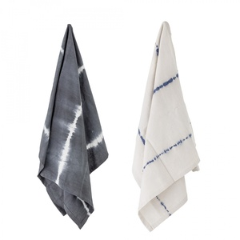 Bavlnená utierka Grey Tie Dye 70×45 cm - set 2 ks