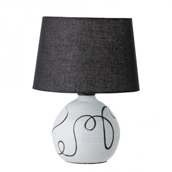 Keramická stolní lampa Black and White Terracotta