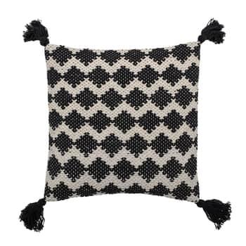 Bavlnený pletený vankúš Black White 45 × 45 cm