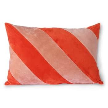 Bavlnený vankúš Velvet Red/Pink 40x60cm
