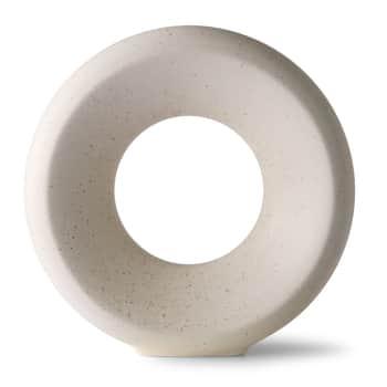 Kameninová kulatá váza White Speckled M