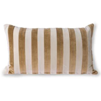 Bavlněný polštář Velvet Brown/Natural
