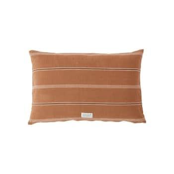 Polštář zorganické bavlny Kyoto Dark Caramel 40×60 cm