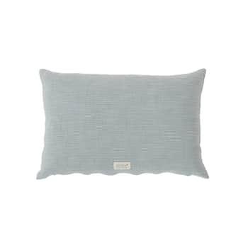 Vankúš zorganickej bavlny Kyoto Dusty Blue 40×60 cm