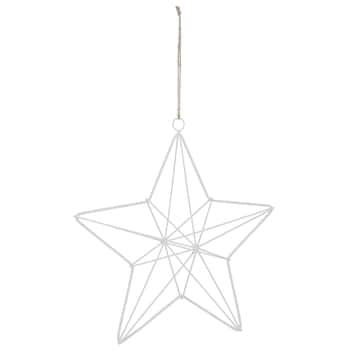Závěsná kovová hvězda White 27cm
