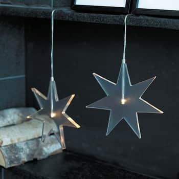 Svítící LED hvězda Luisa Clear 25 cm