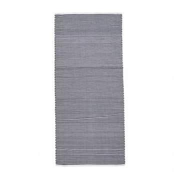 Koberec Stripe Black White 90×200 cm
