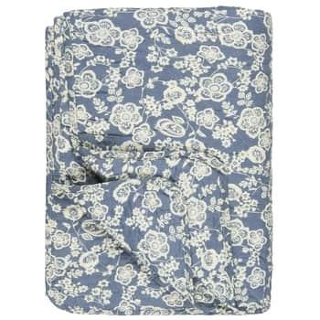 Prošívaný přehoz Blue Flowers 130x180