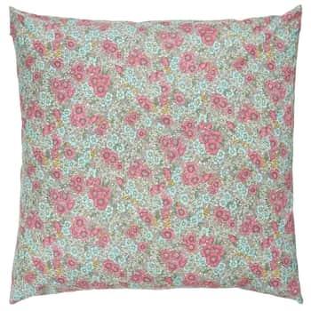 Povlak na polštář Pink Turquoise Flowers 60 × 60 cm