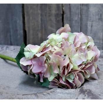 Umělá květina Hortenzie Rose
