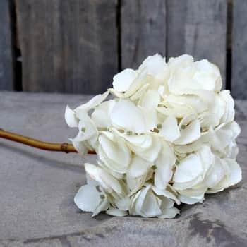 Umělá květina Hortenzie White