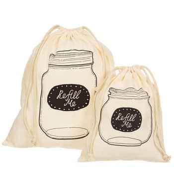 Bavlněná taška na potraviny - set 2 ks