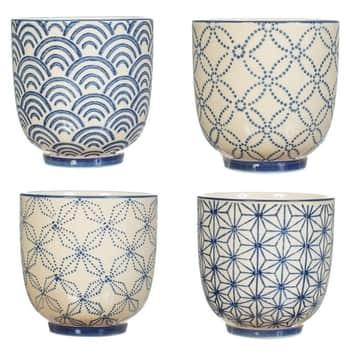 Porcelánový latte cup Sashiko