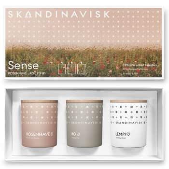 Dárková sada mini svíček Sense - 3x65g