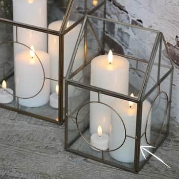 LED vysoká svíčka sbaterií White