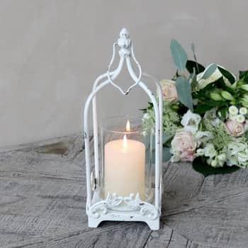 Kovová lucerna Antique Cream 34 cm