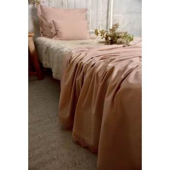 Bavlněný přehoz na postel Lace Old Rose 140 × 280 cm