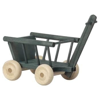 Dřevěný vozík pro zvířátka Maileg Micro Petrol