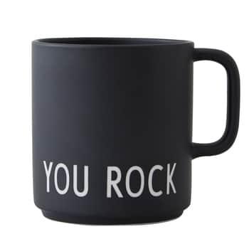 Porcelánový hrnek souškem You Rock 300ml