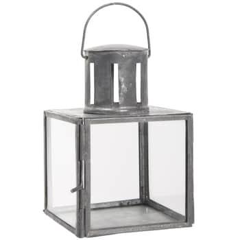 Sklenený lampáš Grey Mini
