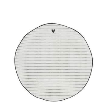 Porcelánový dezertní talíř Black Stripes 16cm