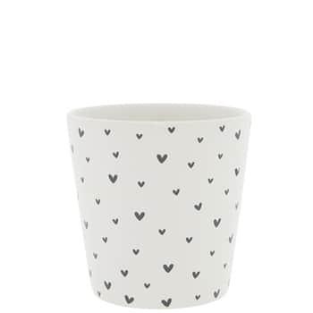 Porcelánový latte cup Little Black Hearts 300ml