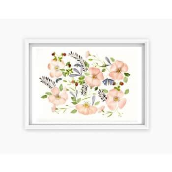 Plakát Šipkové růže A4