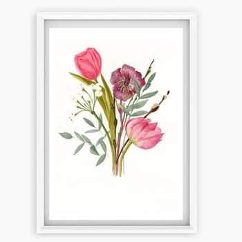 Plakát Květiny A4