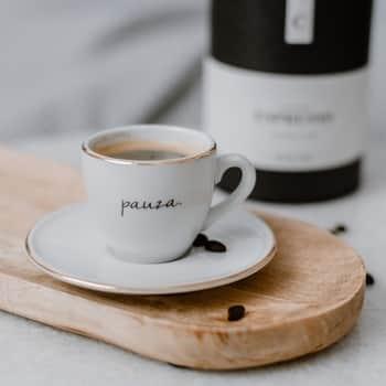 Šálka na espresso spodšálkou Pauza