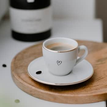 Šálka na espresso spodšálkou Srdiečko