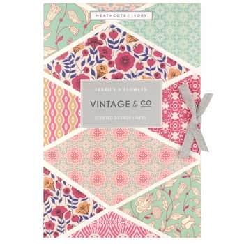 Vonné listy do skříně Fabrics & Flowers - 6 archů