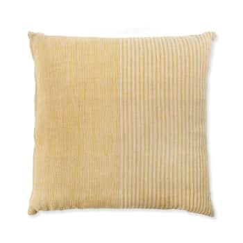 Lněný polštář Hazleton Mellow Turmeric 45×45 cm