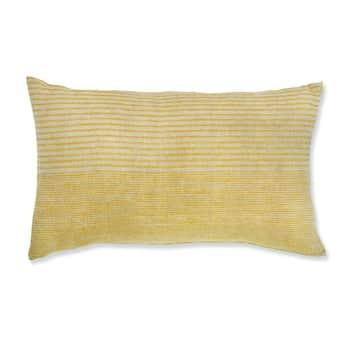 Lněný polštář Hazleton Mellow Turmeric 30×50 cm