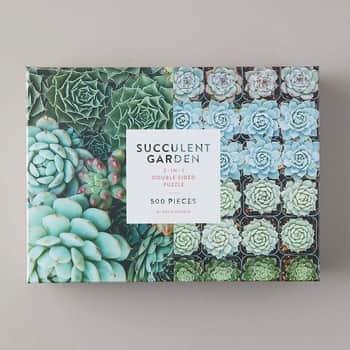 Oboustranné puzzle Succulent Garden - 500 dílků