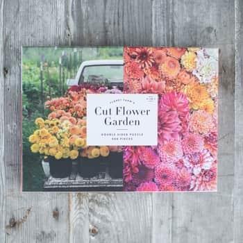 Oboustranné puzzle Cut Flower Garden - 500 dílků