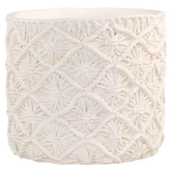Obal na květináč Corte Braided Cream - větší
