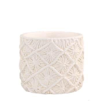 Obal na květináč Corte Braided Cream - menší