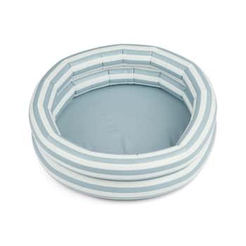 Nafukovací bazén pre deti Leonore Stripe Sea blue/creme 80 cm