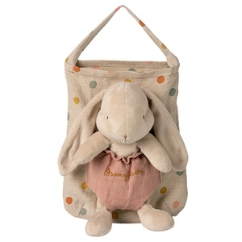 Plyšový králíček vnosítku Bunny Holly Dots
